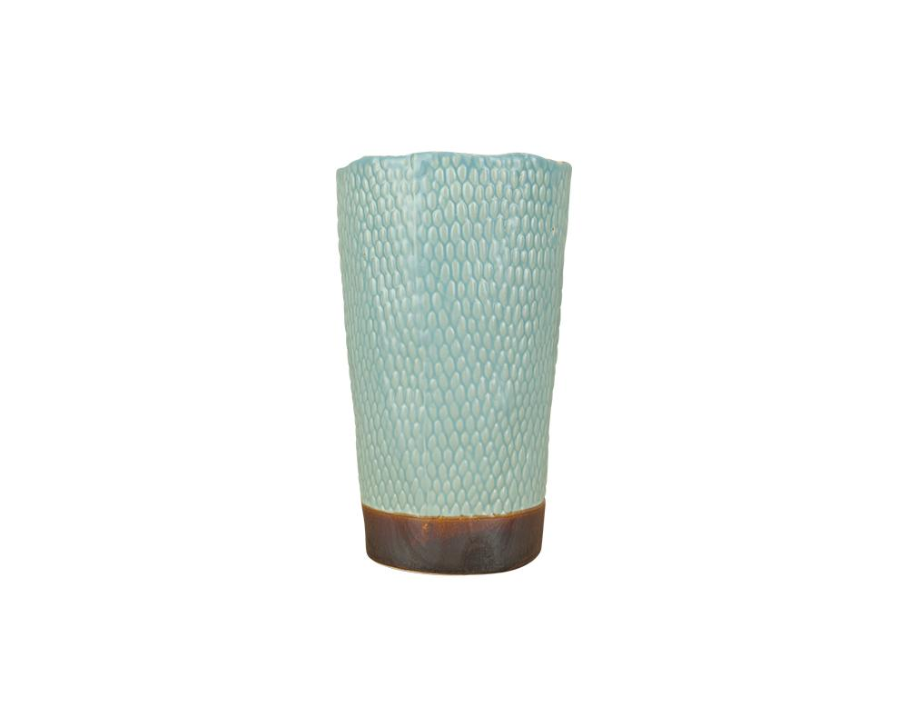 Potterie Textured Tall Pot - Blue