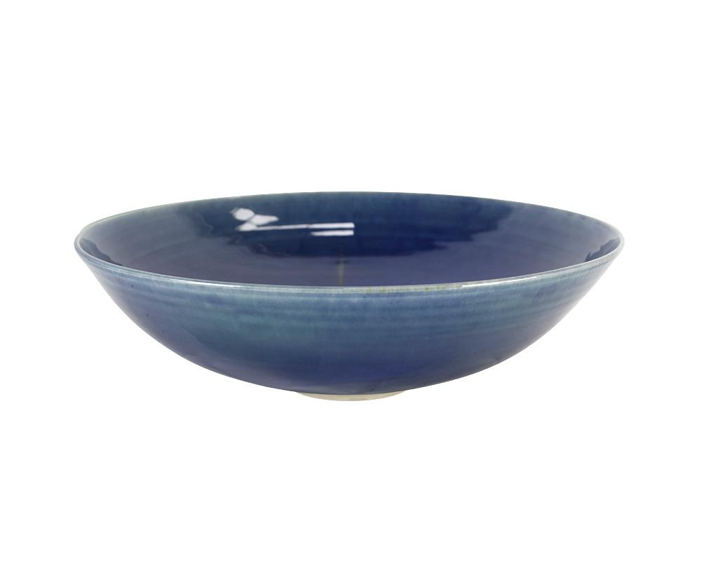 Limited Edition Cecilia Willis Stoneware Bowl - Indigo