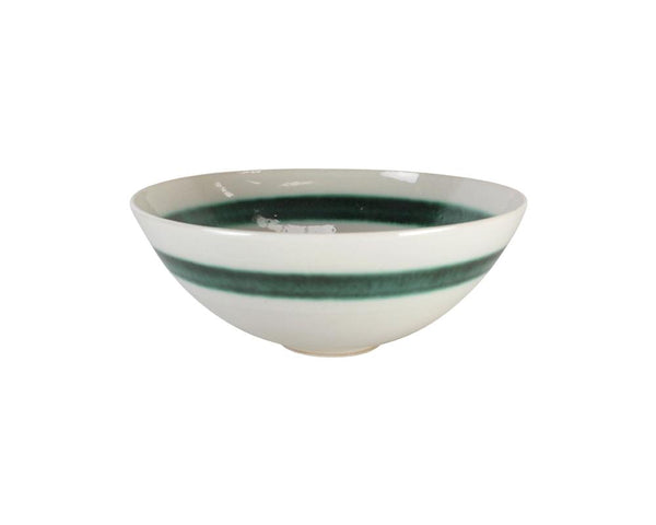 Limited Edition Cecilia Willis Stoneware Bowl with Green Band - Small
