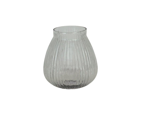 Ribbed Kaanch Vase - Clear