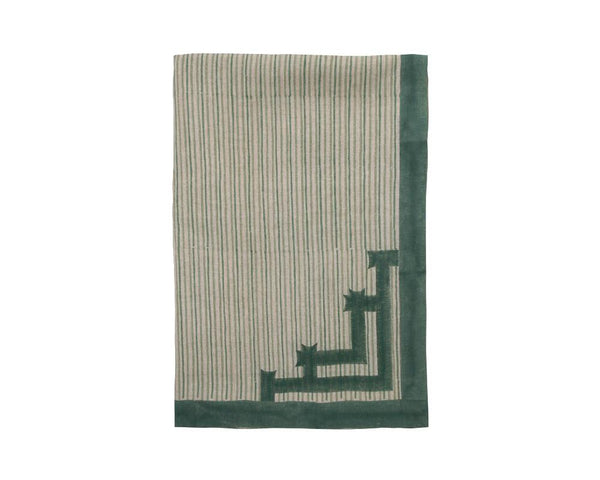 Birdie Fortescue Siriki Stripe Tablecloth - Clover