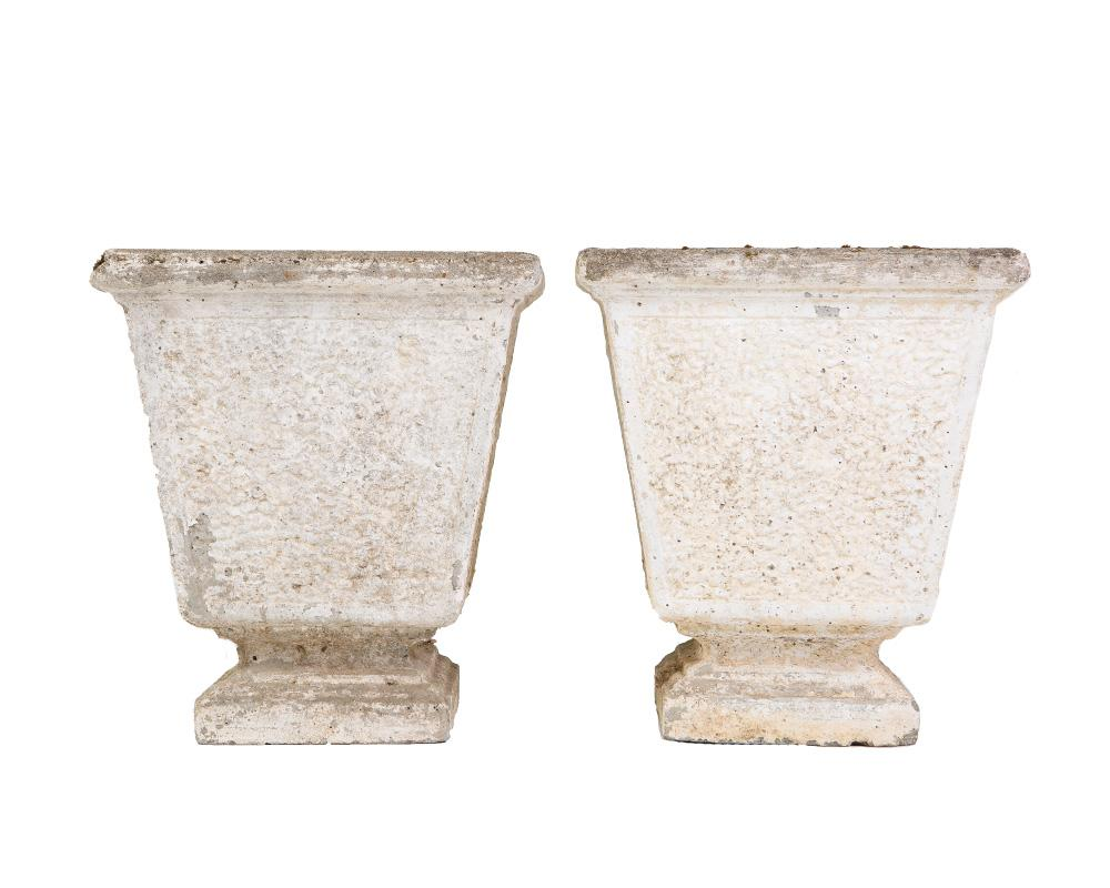 A Pair of French 19th Century Stone Urns