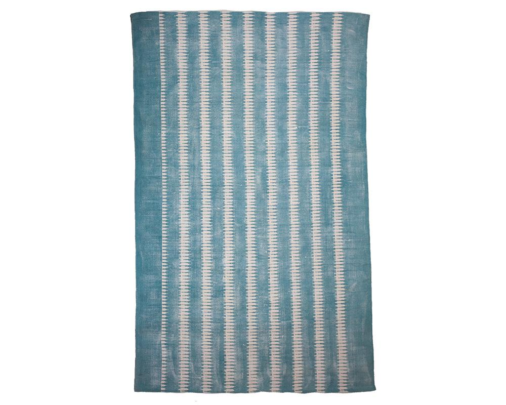 Printed Cotton Rug - Blue