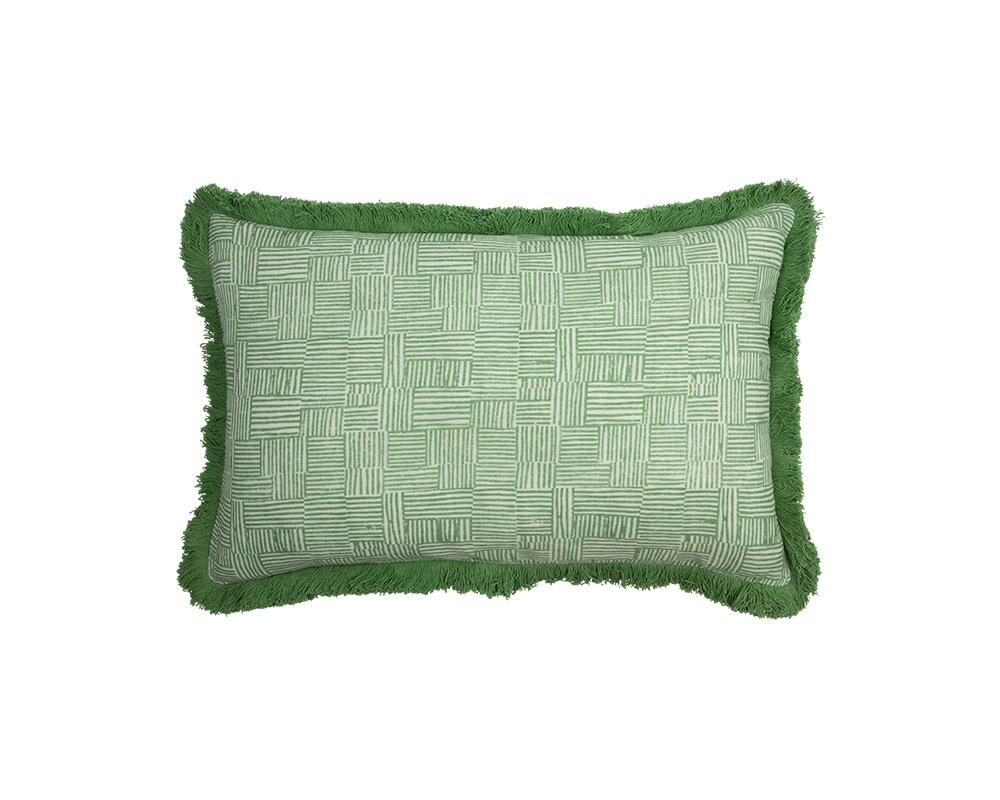 Mishran Crosshatch Cushion - Vetiver