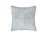 Crosshatch Cushion - Cerulean