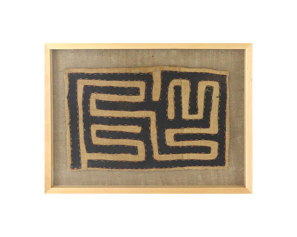 Limited Edition Framed Kuba Cloth - XV