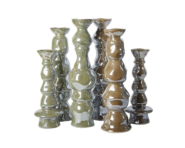 Potterie Sculptural Candlesticks
