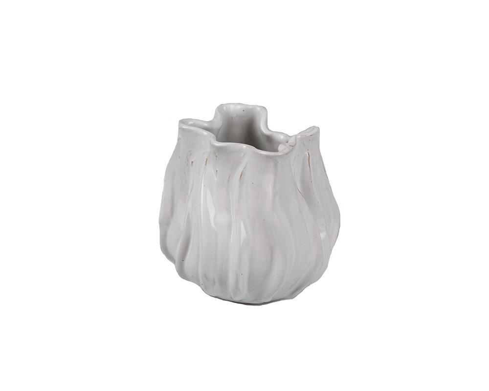 Potterie White Open Lotus Vase