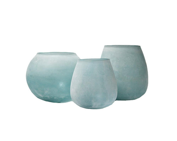 Frosted Votive - Blue