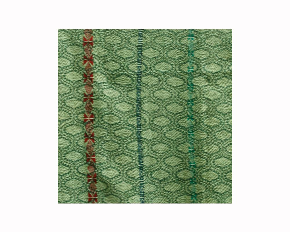 Limited Edition Vintage Kantha Throw - Green 5/16