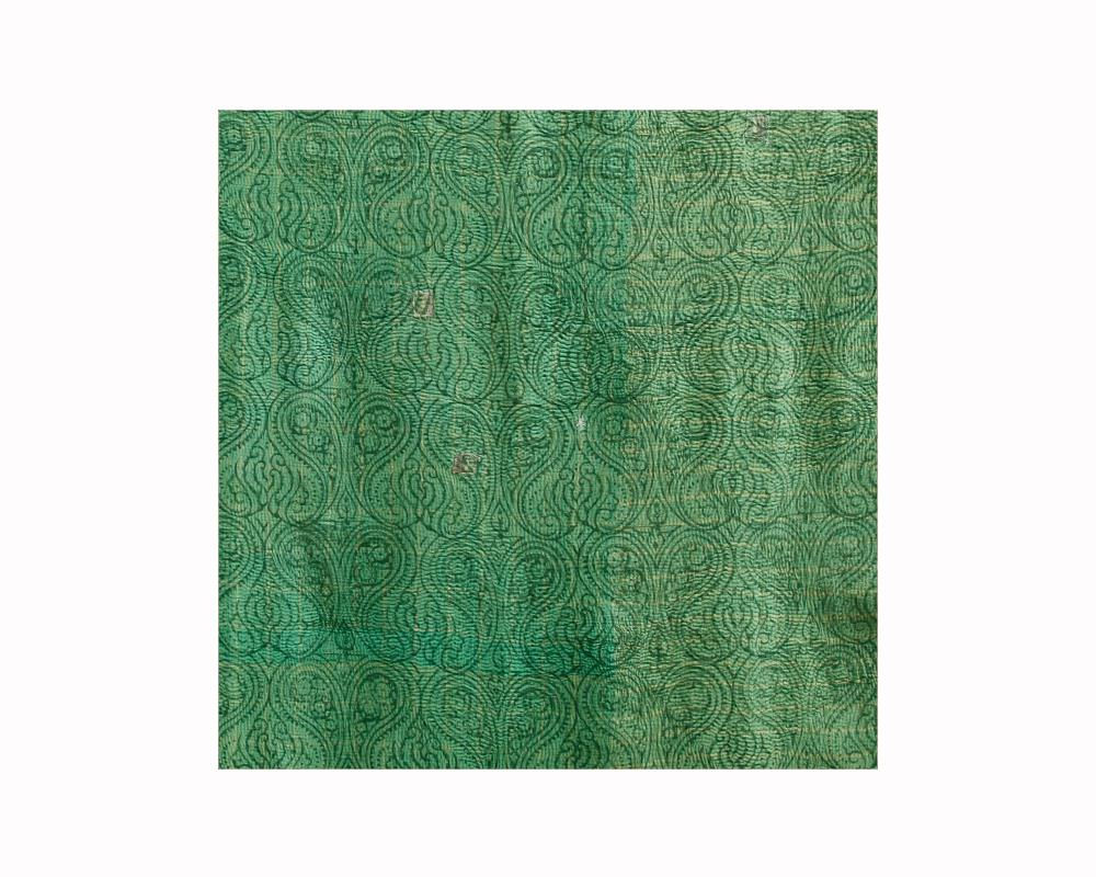 Limited Edition Vintage Kantha Throw - Green 6/16