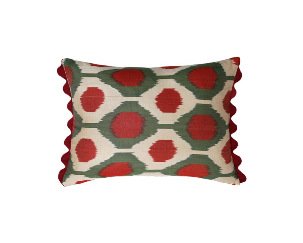 Limited Edition Clover Turkish Silk Ikat Cushion - Small