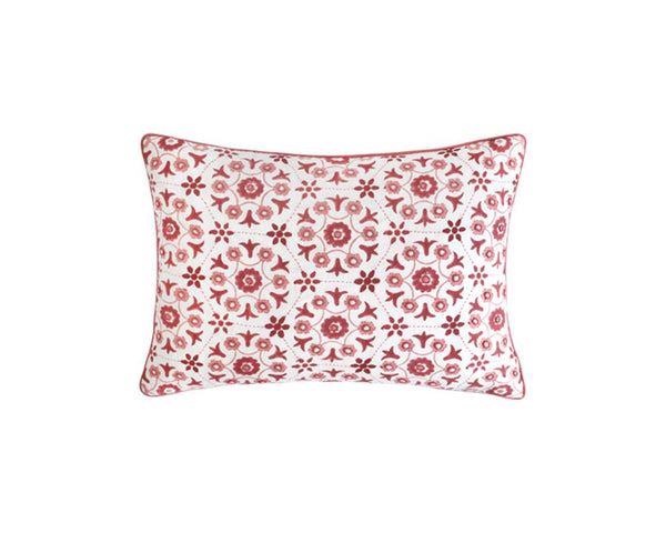 Adana Geometric Cushion - Rectangle In Pink