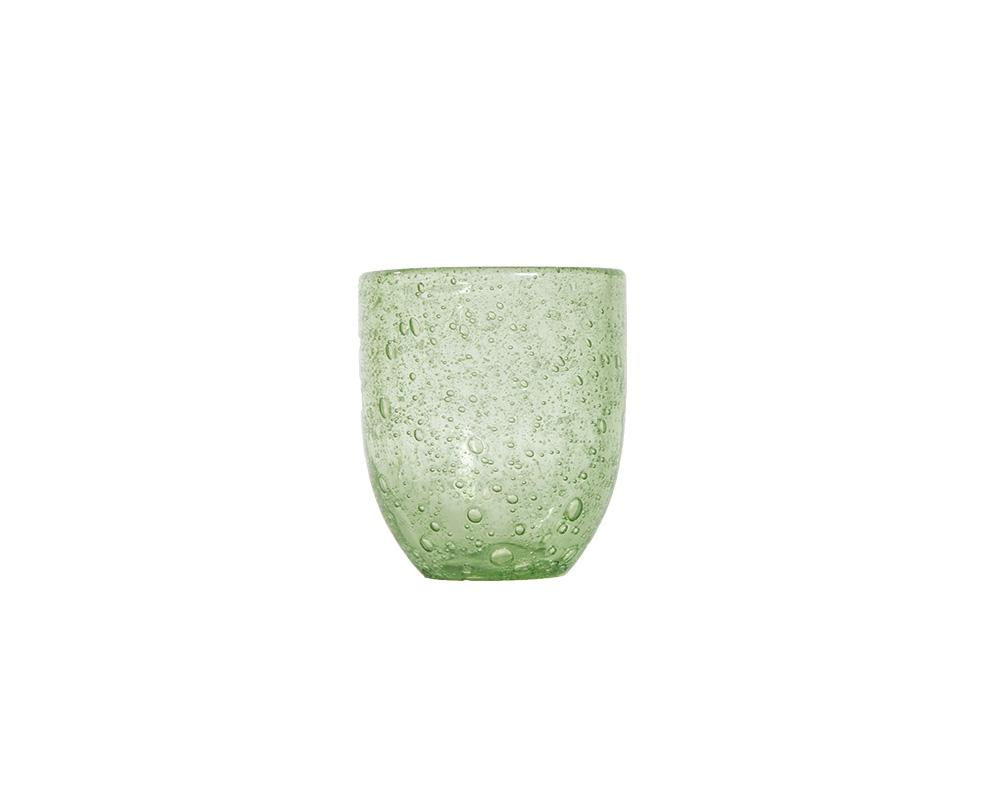 Bubble Glass Tumblers - Green