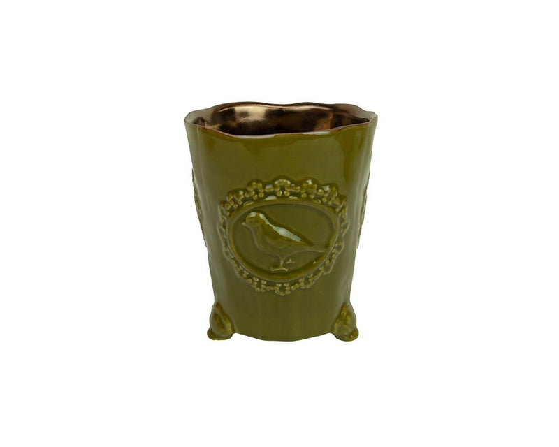 Potterie Bird Pot - Olive