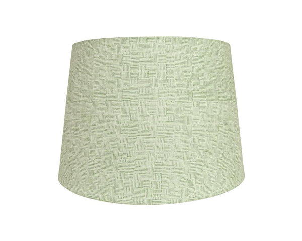 Crosshatch Block Printed Lampshade - Green