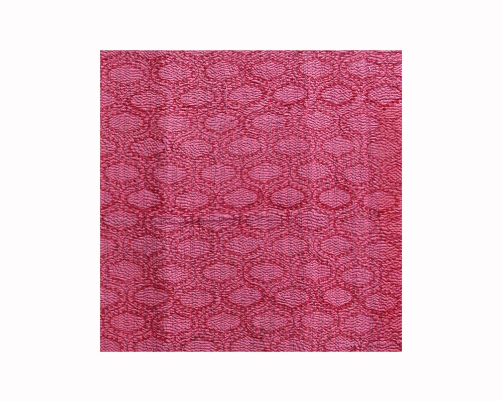 Limited Edition Vintage Kantha Throw - Red 4/16