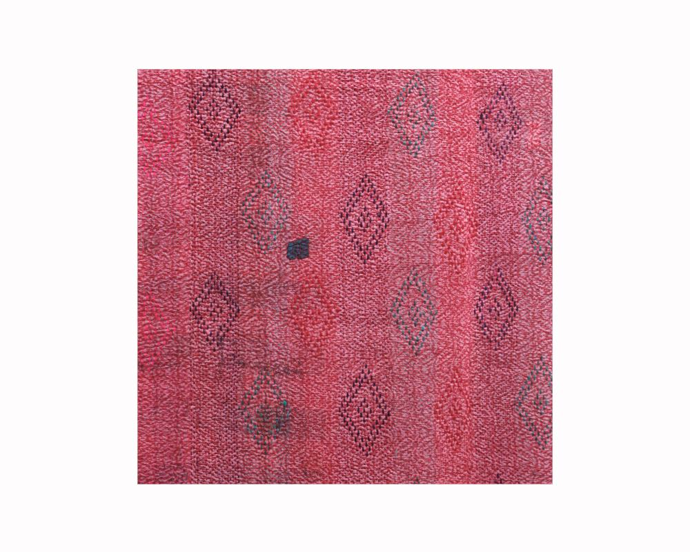 Limited Edition Vintage Kantha Throw - Red 8/16