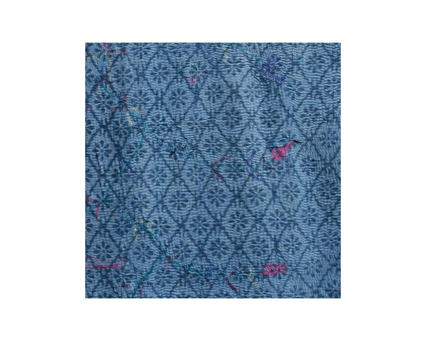 Limited Edition Vintage Kantha Throw - Blue 1/14