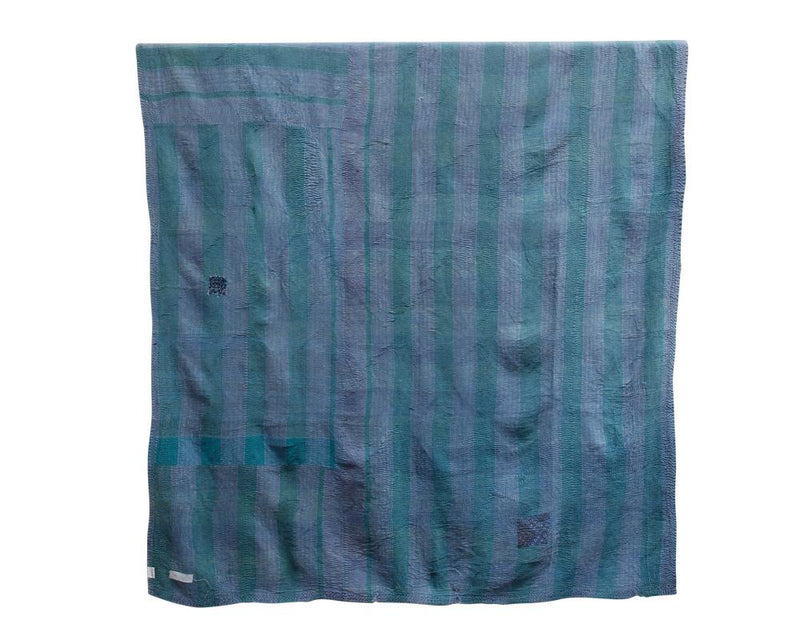 Limited Edition Vintage Kantha Throw - Blue 13/14