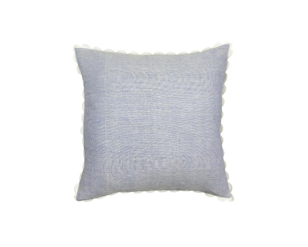 Limited Edition Mishran Khadi Cushion - Cornflower