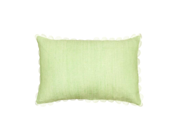 Limited Edition Mishran Khadi Cushion - Lime