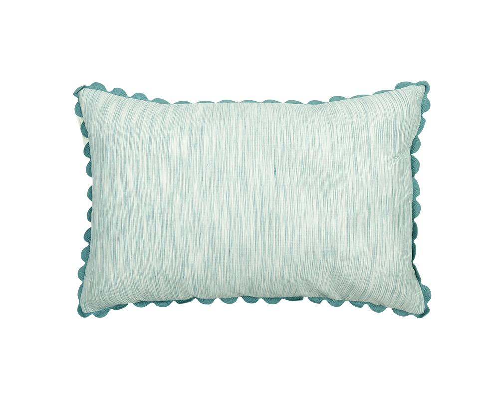 Limited Edition Mishran Khadi Cushion - Sky Strie
