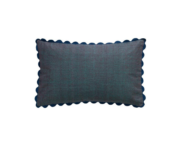 Limited Edition Silk Mel Khadi Cushion - Midnight