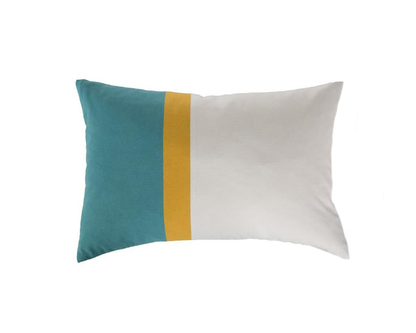 Aakaar Panel Cushion Blue/Yellow - Rectangle