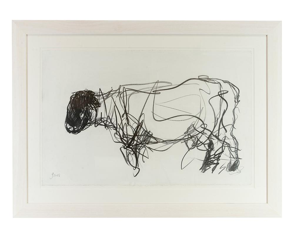 Jason Gathorne-Hardy - Study of Suffolk Ram Walking