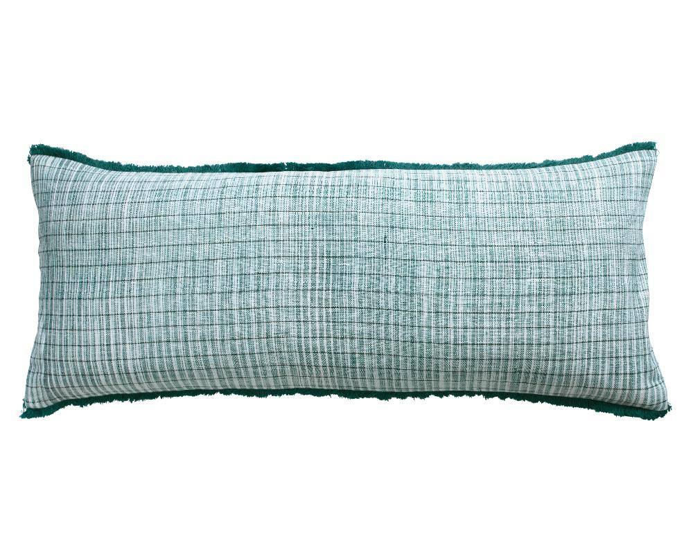 Limited Edition Khadi Cushion - Aqua