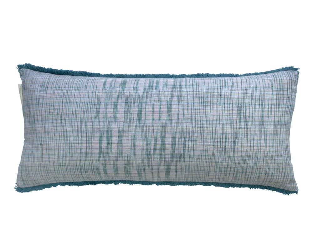 Limited Edition Khadi Cushion - Teal