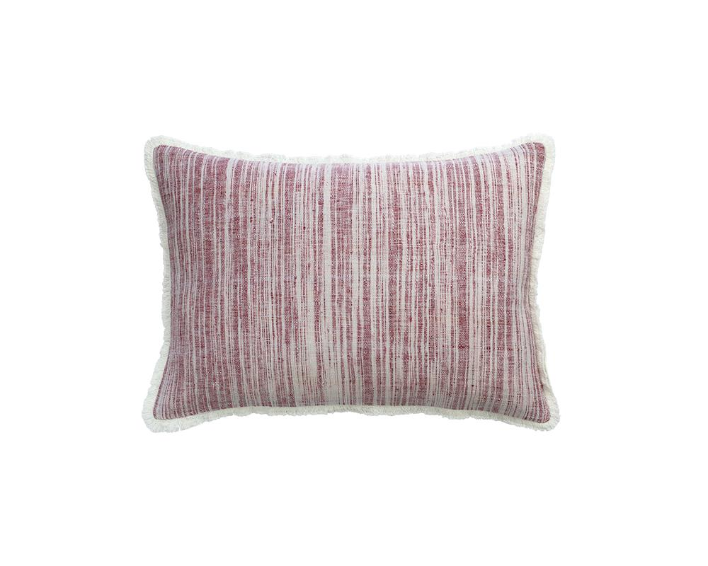 Limited Edition Khadi Cushion - Merlot