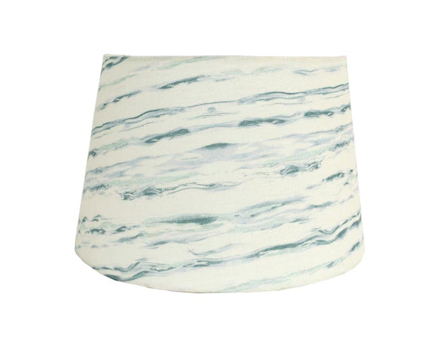 Marble Printed Lampshade - Cerulean