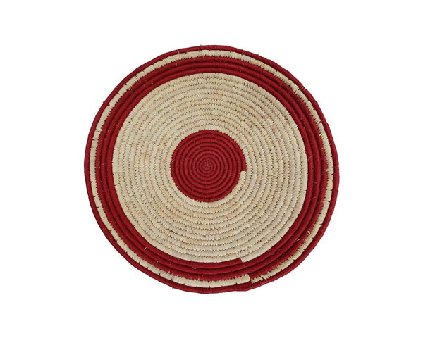 Limited Edition Circle Woven Wall Baskets - Merlot Varieties