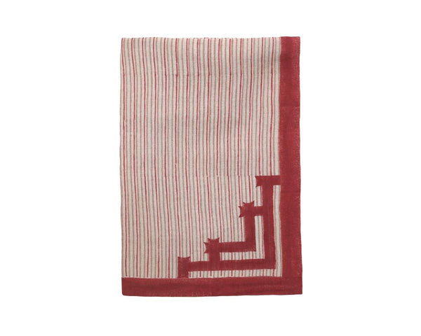 Birdie Fortescue Siriki Stripe Tablecloth - Merlot