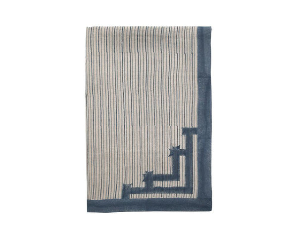 Birdie Fortescue Siriki Stripe Tablecloth - Midnight