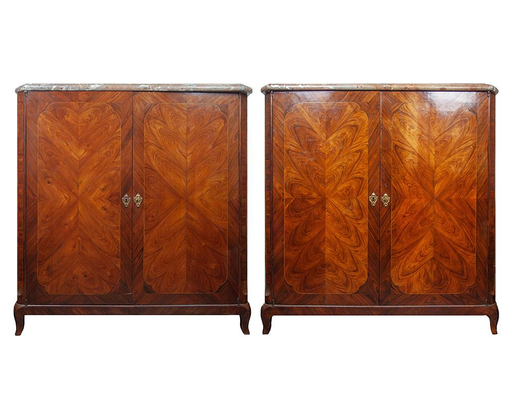 A Pair of Late 18th Century Tulipwood Cabinets
