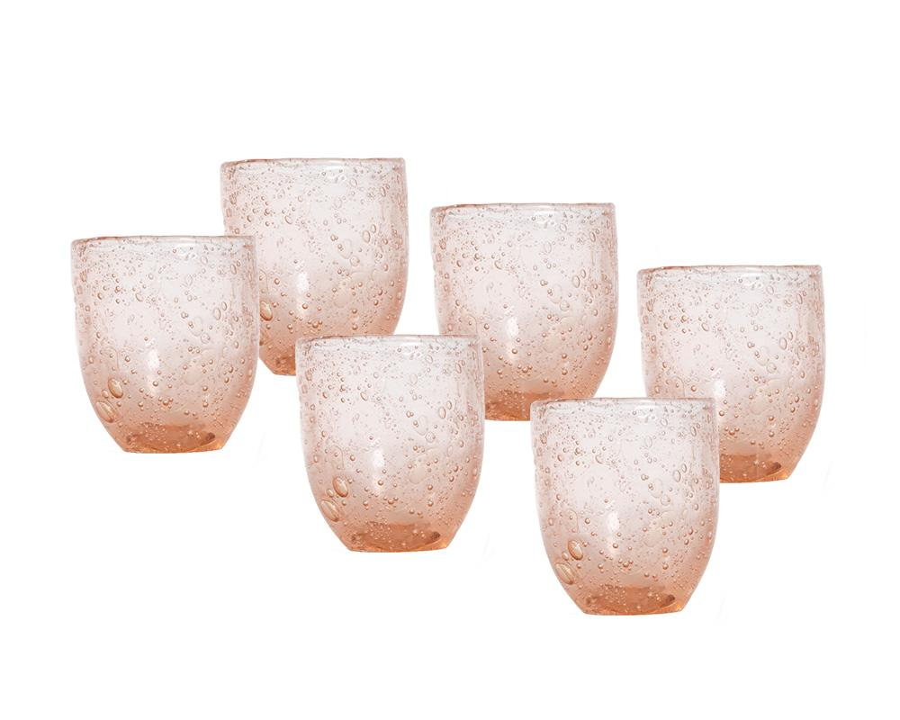 Bubble Glass Tumblers - Pink