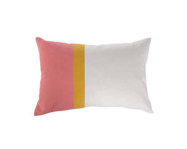 Aakaar Panel Cushion Pink/Yellow - Rectangle
