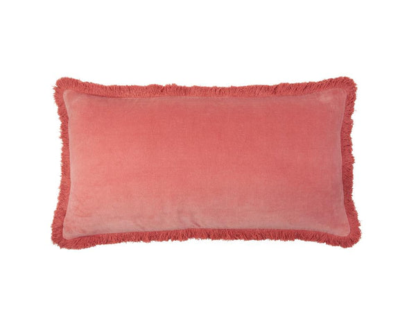 Mishran Staple Velvet Rectangle Cushion - Rose