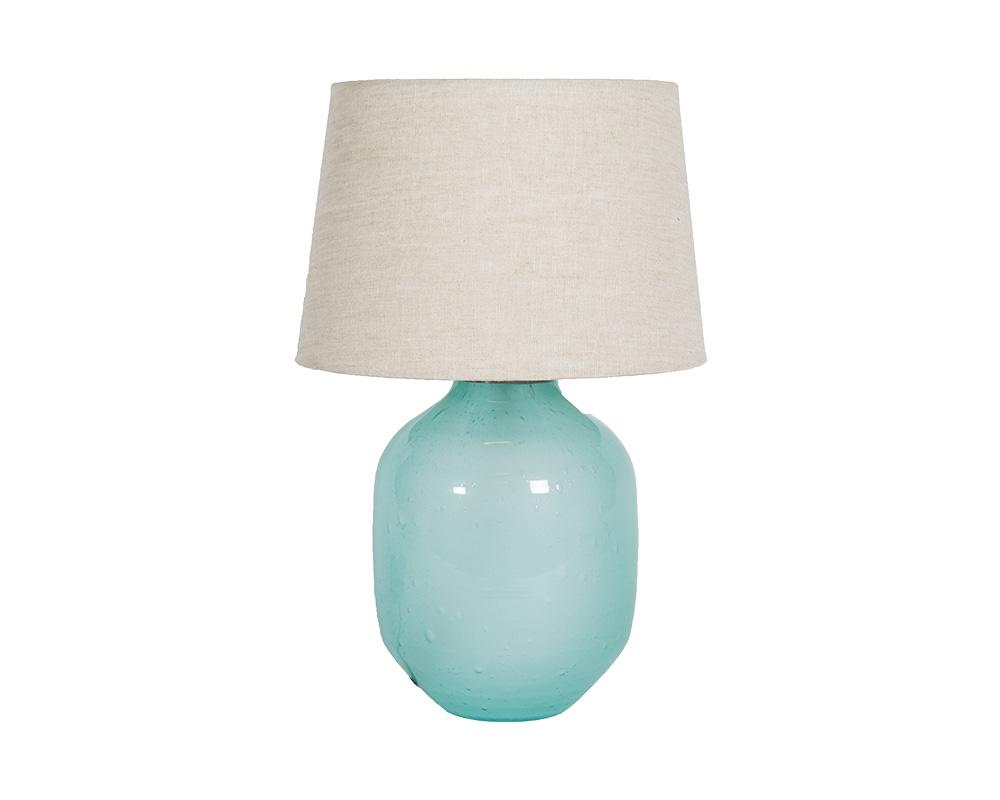 Small Piyush Glass Lamp - Blue