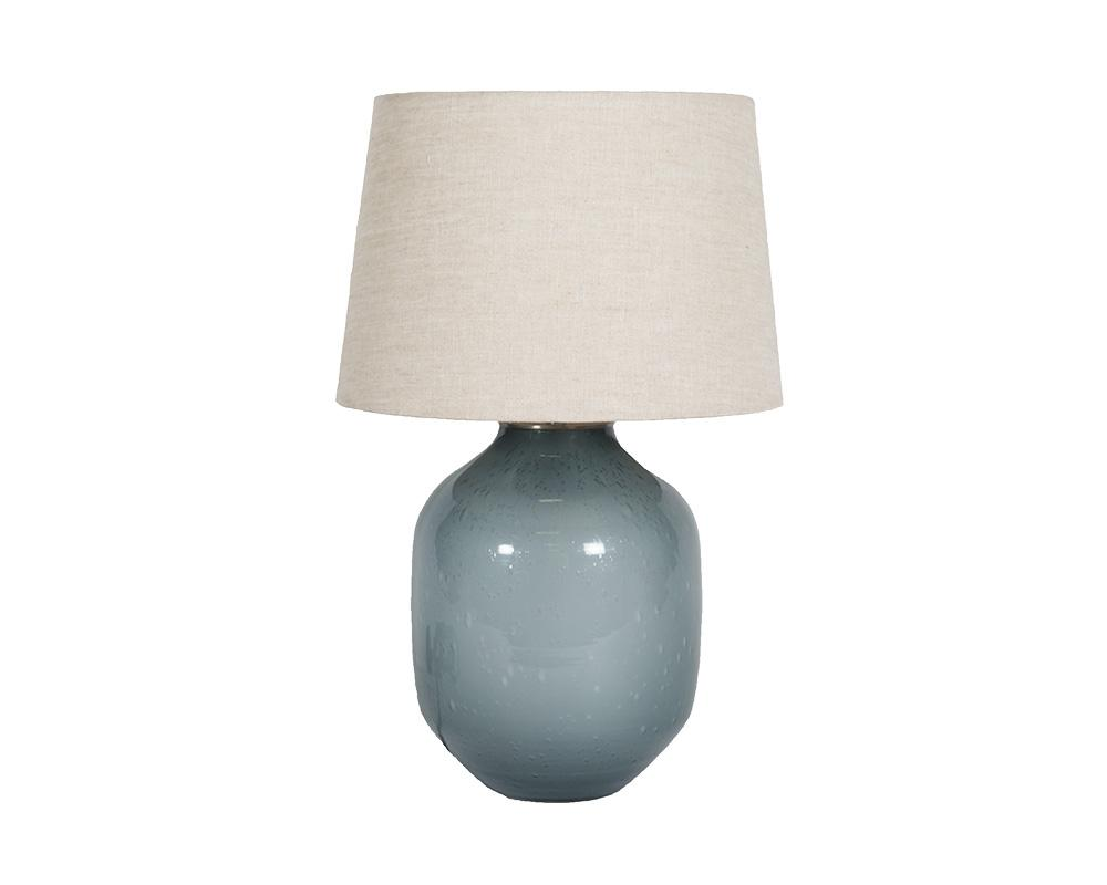 Small Piyush Glass Lamp - Slate