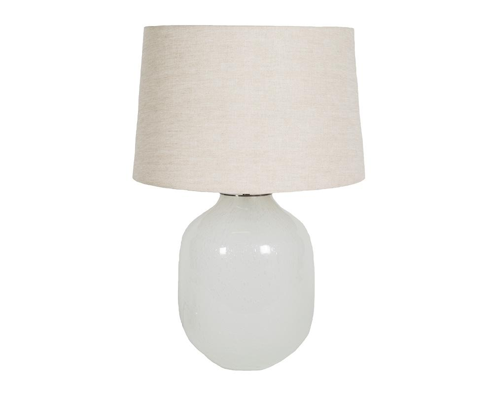 Large Piyush Glass Lamp - White