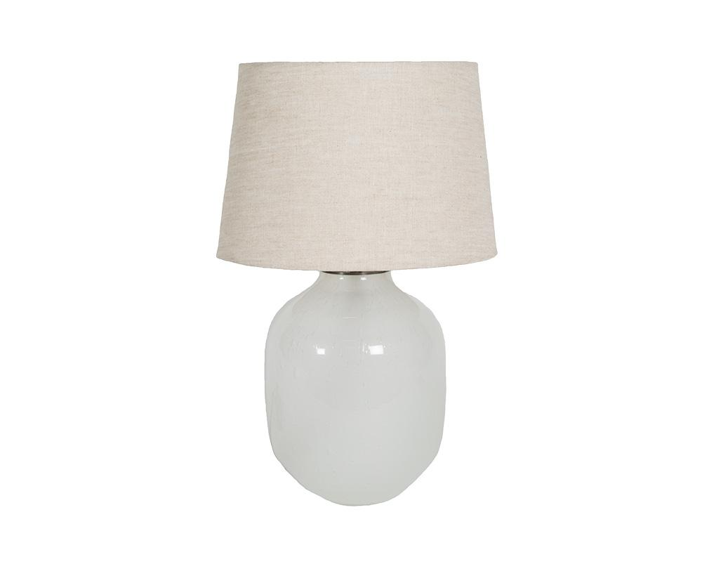 Small Piyush Glass Lamp - White
