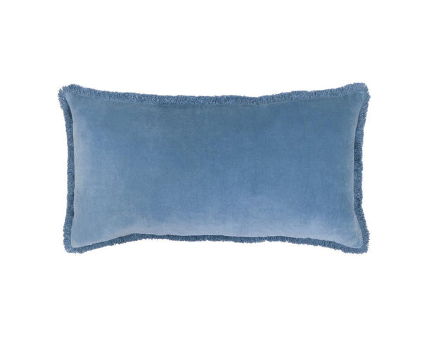 Medina Staple Velvet Rectangle Cushion - Marine
