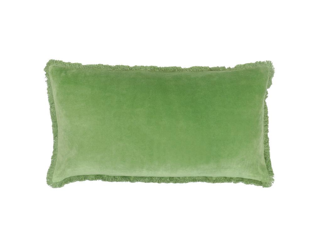 Medina Staple Velvet Rectangle Cushion - Palm