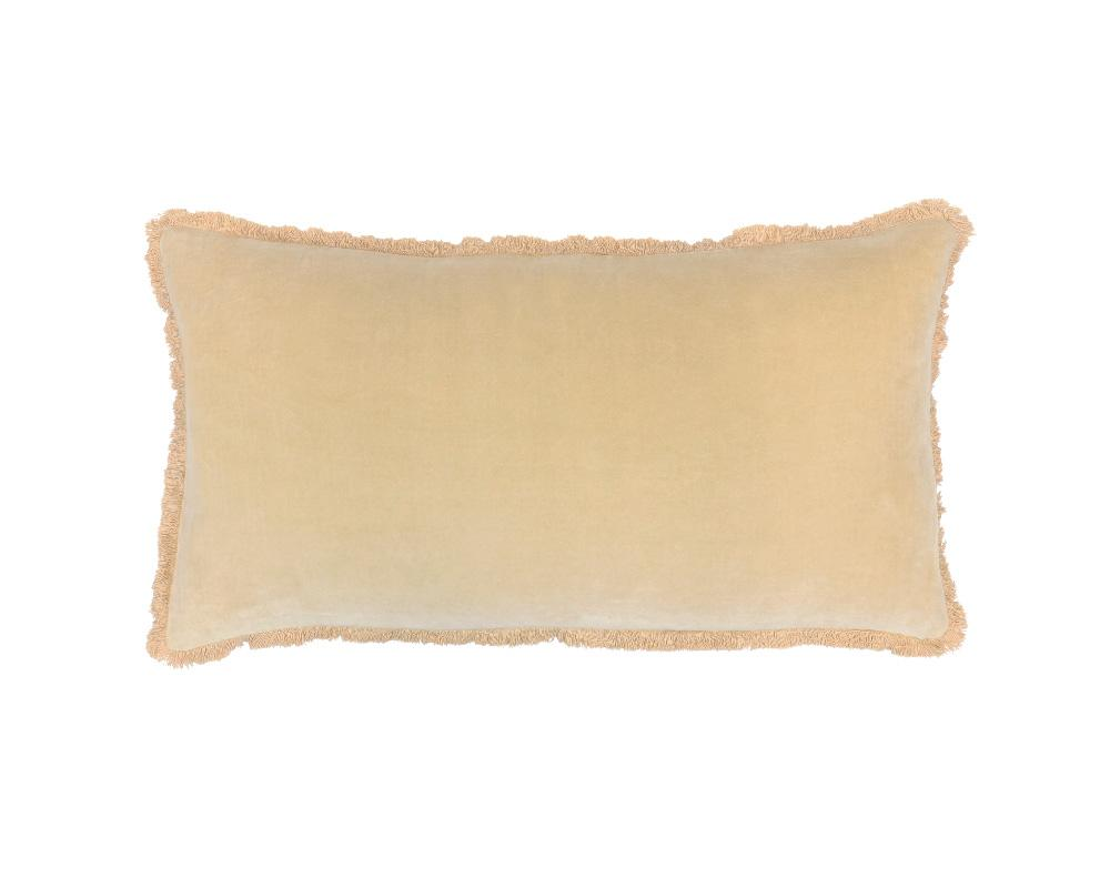 Medina Staple Velvet Rectangle Cushion - Sand