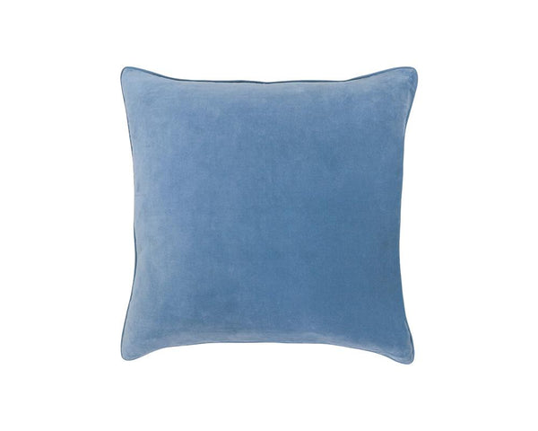 Medina Staple Velvet Square Cushion - Marine