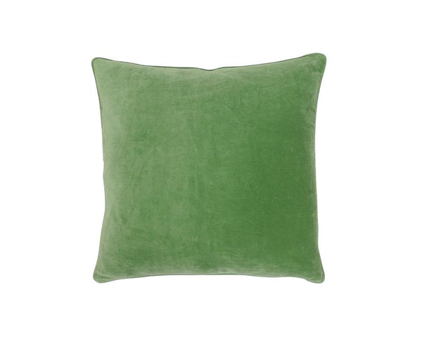 Medina Staple Velvet Square Cushion - Palm